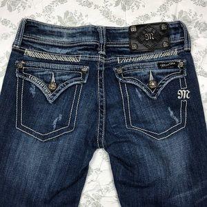 Miss me jeans sz 26 x32.5 boot distressed